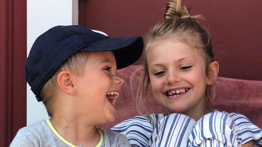 Prinz Oscar und Prinzessin Estelle auf der schwedischen Insel Blå Jungfrun