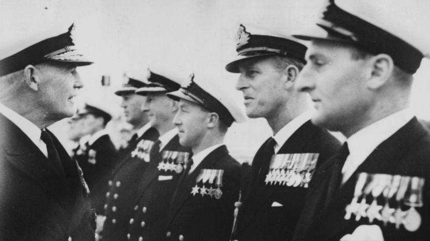 Prinz Philip bei der Militärparade, November 1950