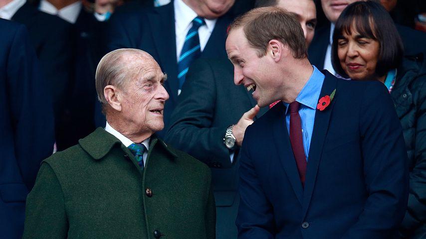 Prinz Philip und Prinz William 2015