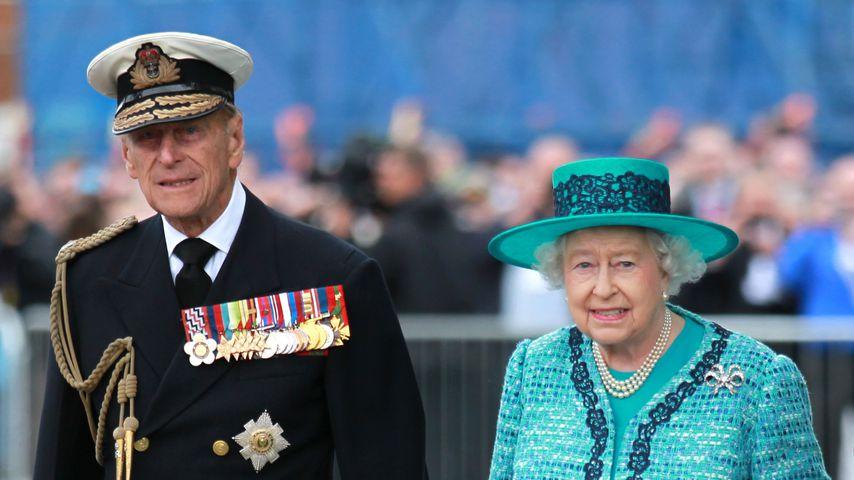 Prinz Philip und Queen Elizabeth II. im Juli 2014 in Fife, Schottland