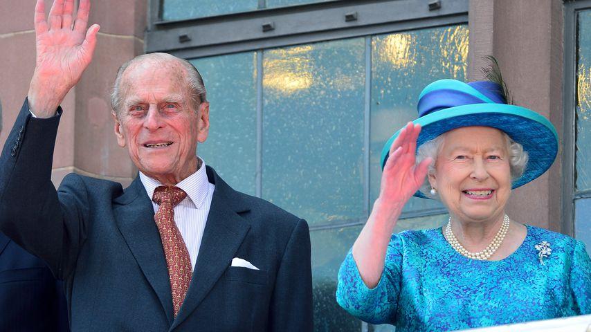 Prinz Philip und Queen Elizabeth in Frankfurt am Main 2015