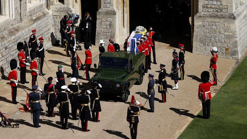 Prinz Philips Sarg in Windsor Castle