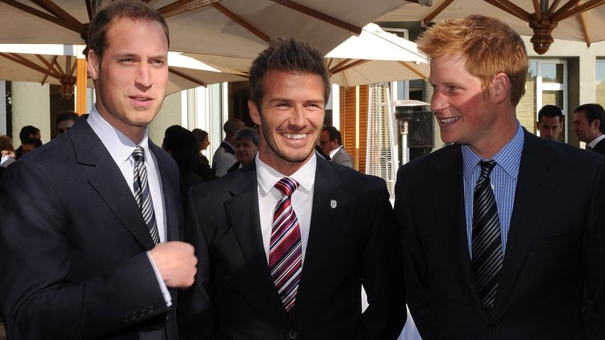Prinz William, David Beckham und Prinz Harry, 2010
