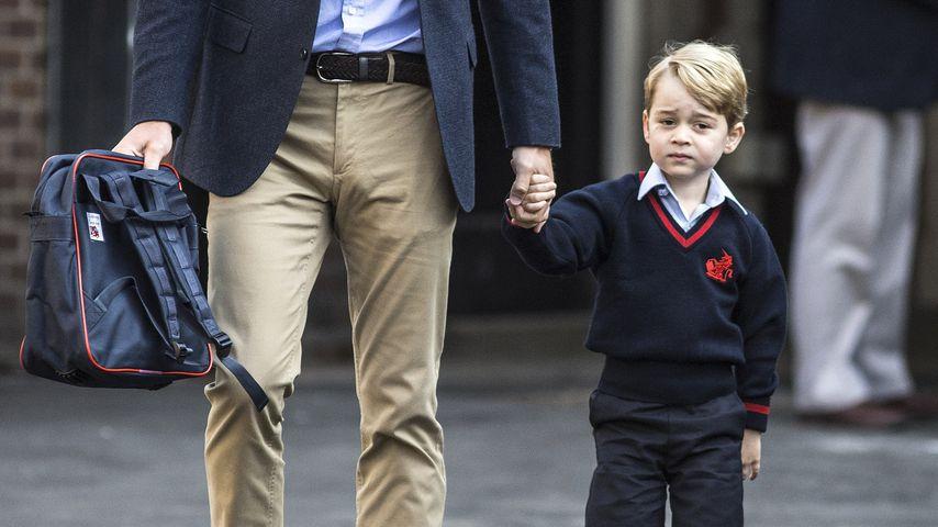 Prinz William und Prinz George an dessen ersten Schultag an der Thomas's Battersea-Vorschule