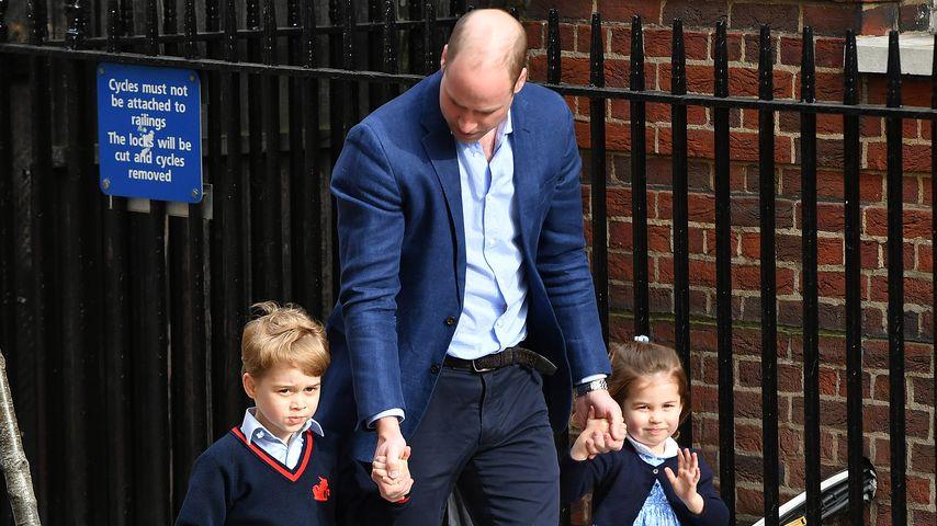 Prinz William mit seinen beiden Kindern Prinz George und Prinzessin Charlotte