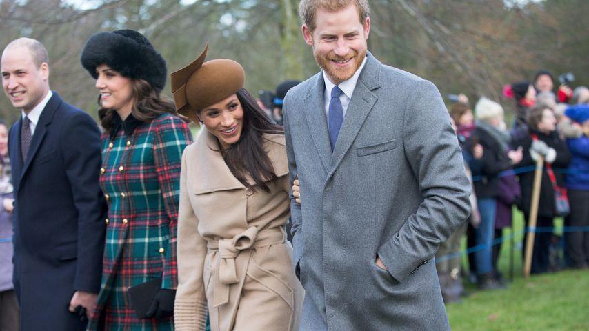 Prinz William, Herzogin Kate, Meghan Markle und Prinz Harry bei der royalen Weihnachtsmesse