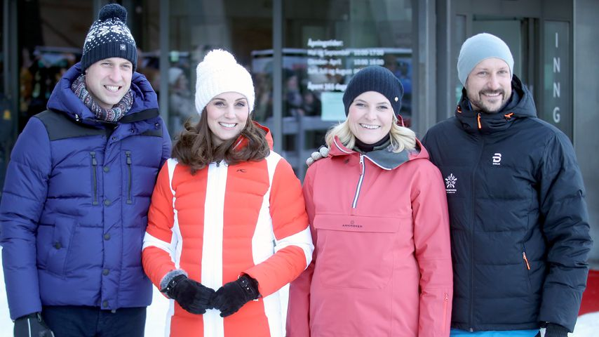 Prinz William, Herzogin Kate, Mette Marit und Haakon in Norwegen 2018