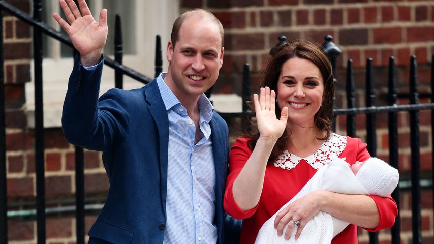 Prinz William, Herzogin Kate und Baby Louis vor dem St. Mary's Hospital