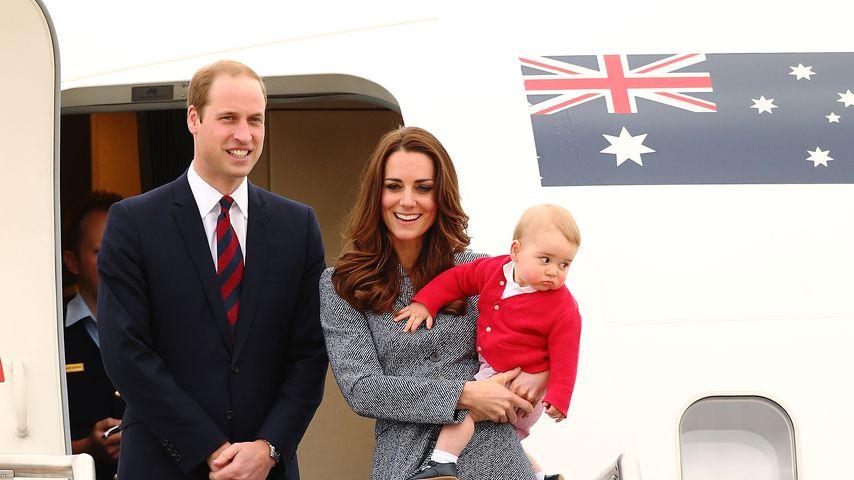 Prinz William, Herzogin Kate und Prinz George in Australien