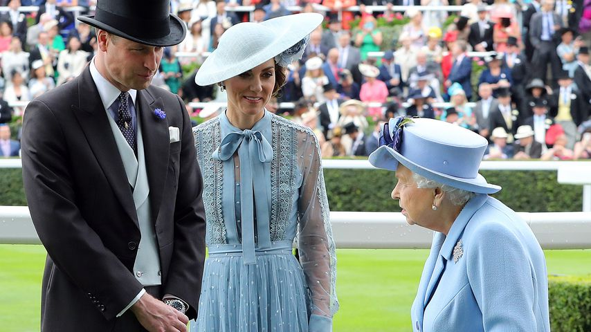 Prinz William, Herzogin Kate und Queen Elizabeth II. beim Royal Ascot