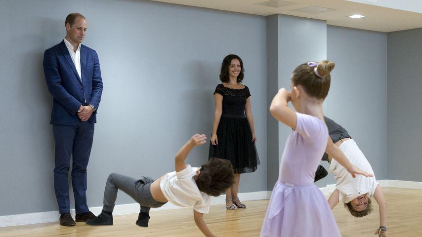 Prinz William ist Tanzcoach für Kinder