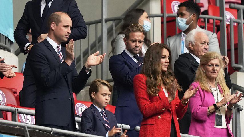 Prinz William, Prinz George und Herzogin Kate bei der Fußball-EM 2020