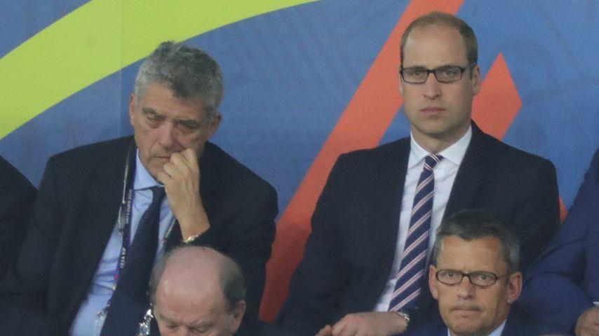 EM-Experte im Stadion: Prinz William fiebert mit seinem Team