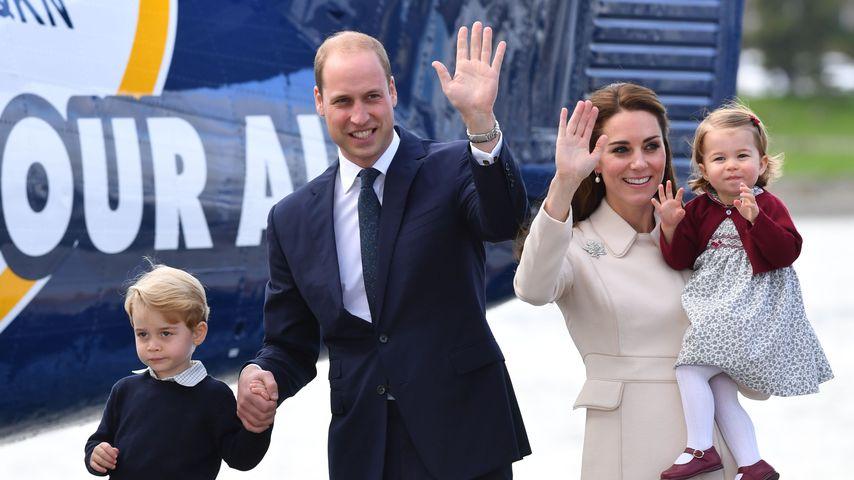 Prinz William mit Herzogin Kate und den Kids, Oktober 2016