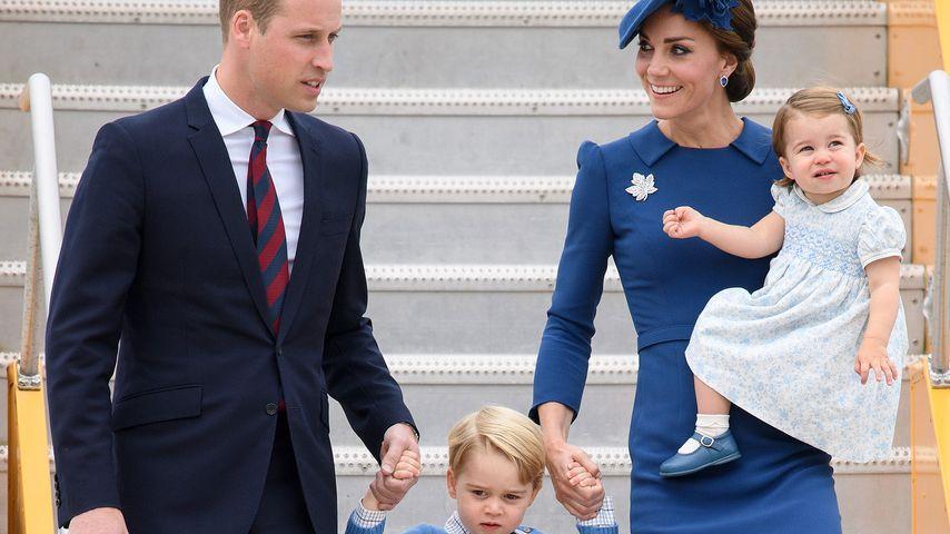 Prinz William mit Herzogin Kate und den Kindern George und Charlotte in Kanada