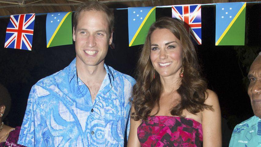 Prinz William und Herzogin Kate auf den Solomon Islands im September 2012