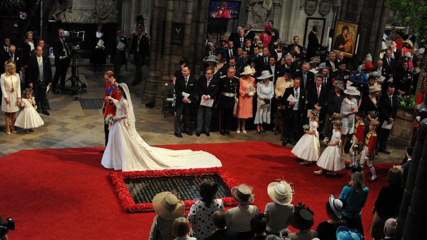 Prinz William und Herzogin Kate an ihrem Hochzeitstag im April 2011