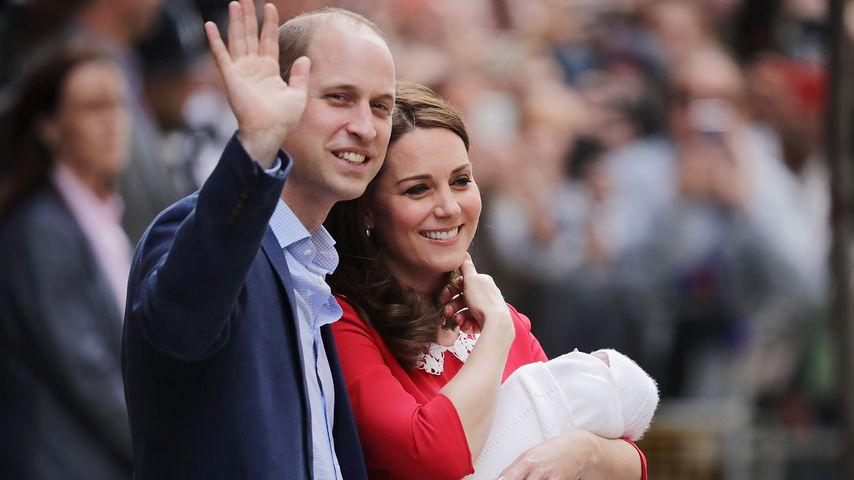 Prinz William und Herzogin Kate mit ihrem Sohn Louis