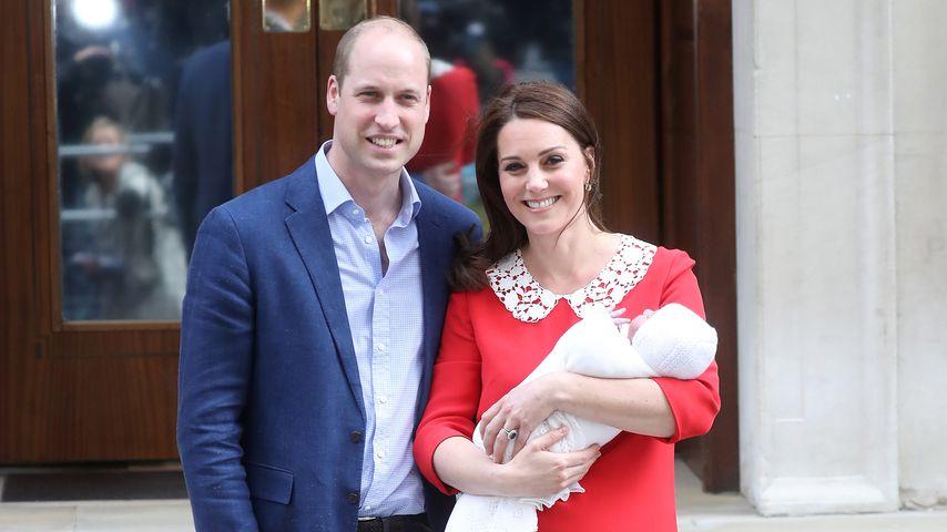 Prinz William und Herzogin Kate mit Prinz Louis im April 2018 in London