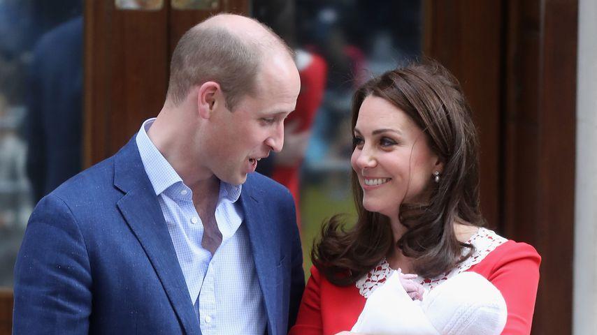 Prinz William und Herzogin Kate mit ihrem dritten Baby