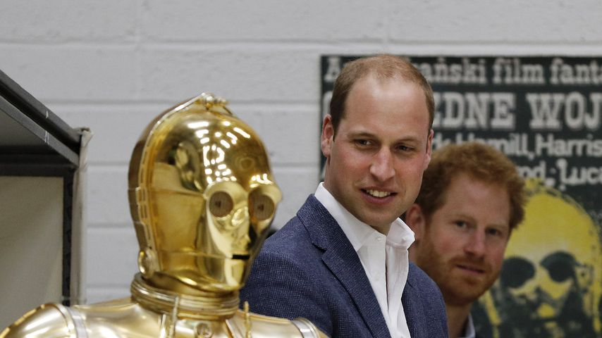 Prinz William, Prinz Harry und C3PO