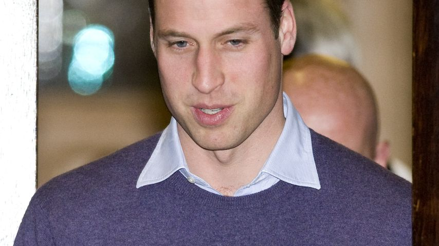 Alles in Blau: Prinz William shoppt fürs Krankenhaus