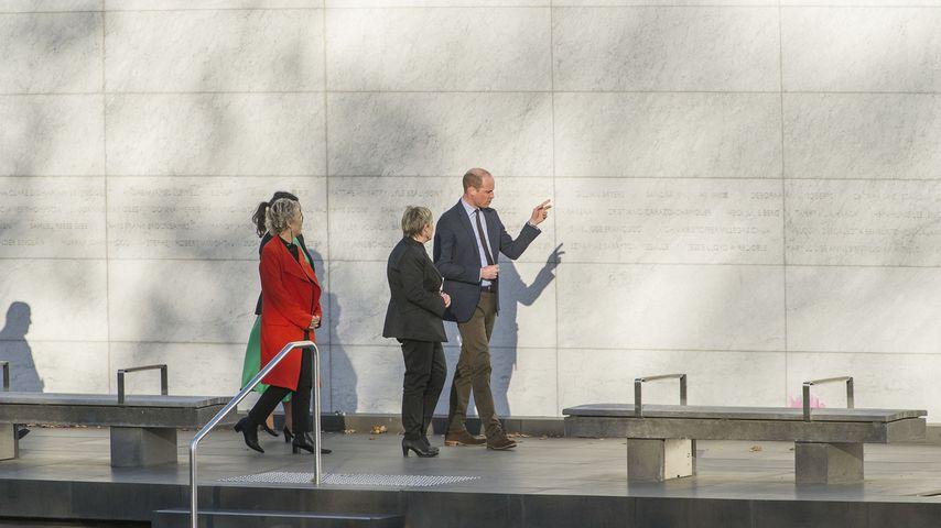 Prinz William vor dem Canterbury Earthquake National Memorial in Christchurch