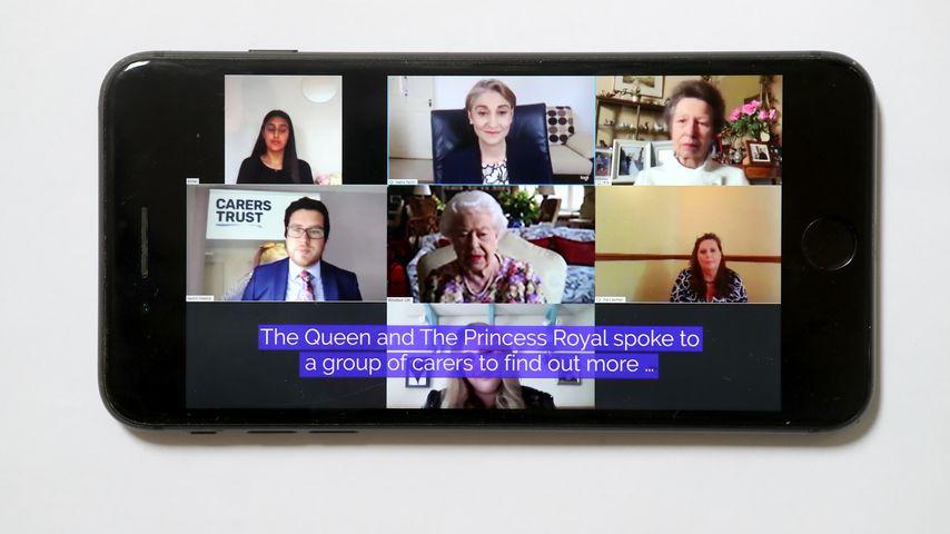 Prinzessin Anne und Queen Elizabeth II. bei einem Videocall