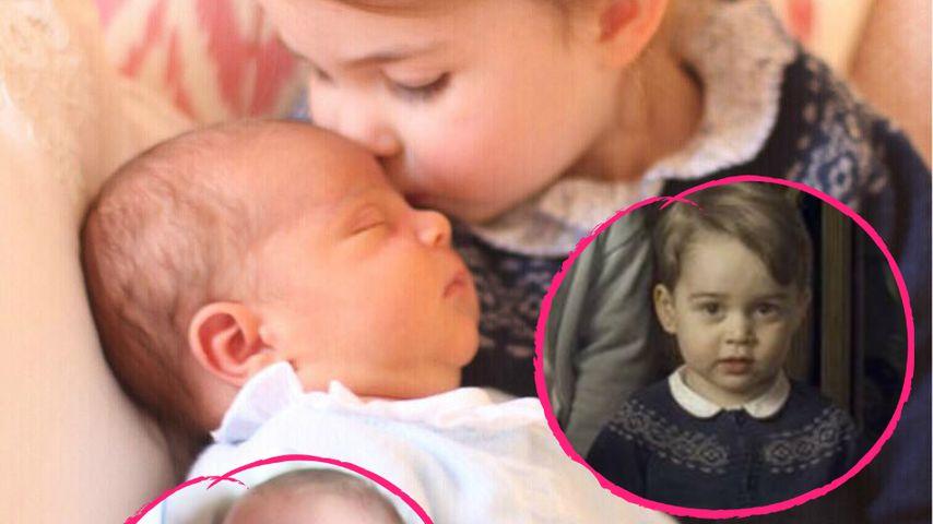 Erstes Geschwister-Pic: Louis & Charlotte tragen Second-Hand