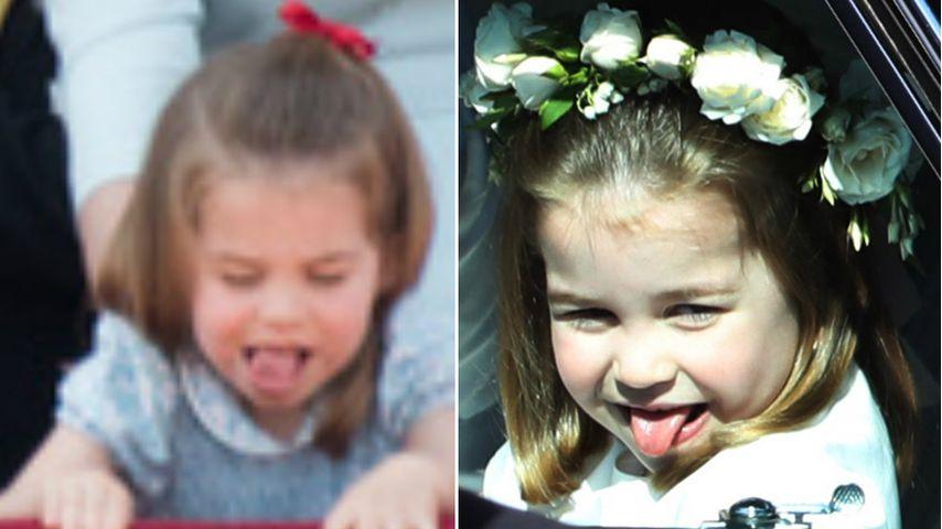 Schon wieder: Prinzessin Charlotte streckt frech Zunge raus