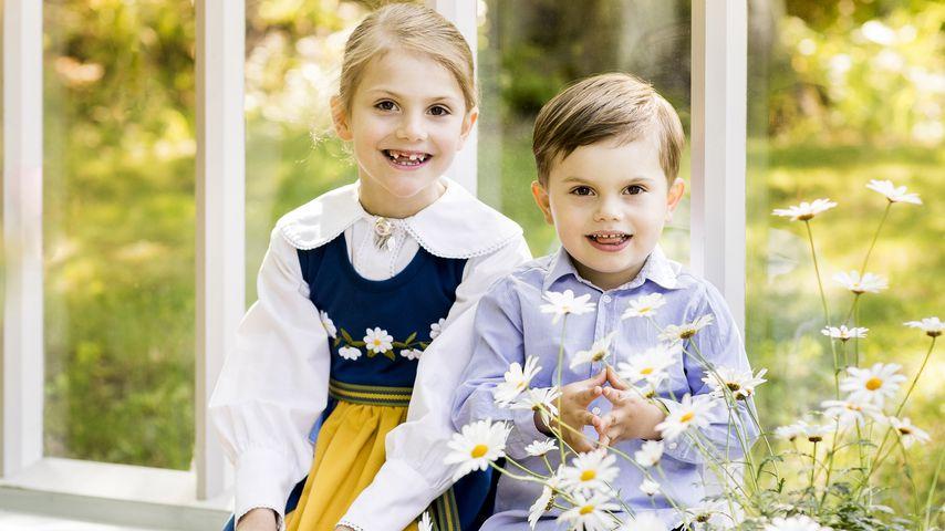 Prinzessin Estelle und Prinz Oscar am schwedischen Nationalfeiertag