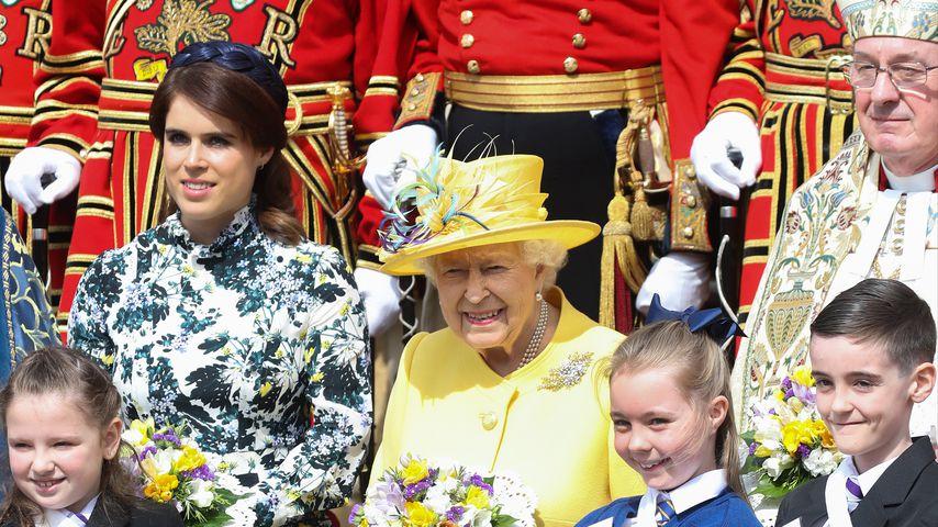 Prinzessin Eugenie und Queen Elizabeth beim Royal Maundy Service