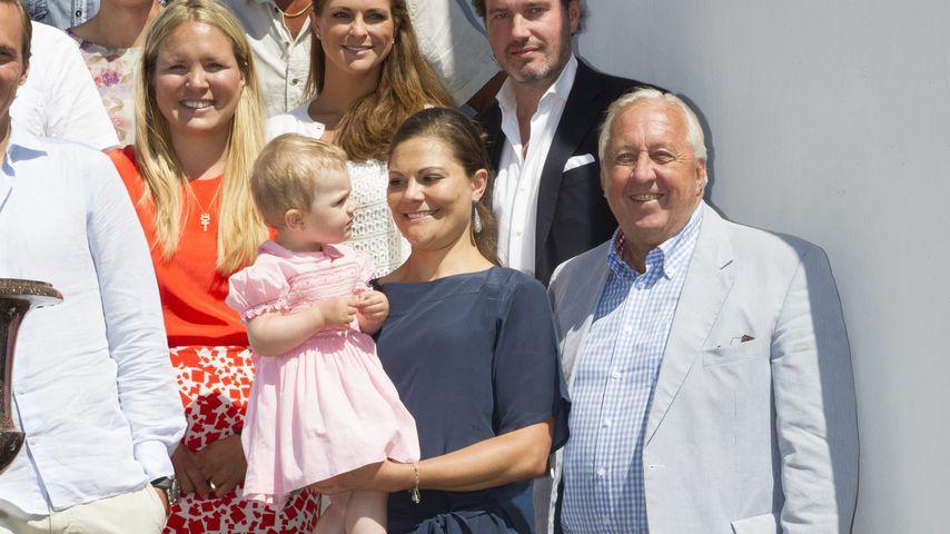 Prinzessin Madeleine mit Ehemann Chris O'Neill, Prinzessin Estelle, Kronprinzessin Victoria und Kay
