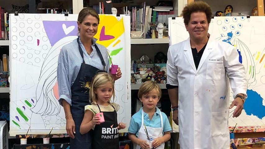 Total putzig: Madeleine von Schweden & ihre Kids malen!