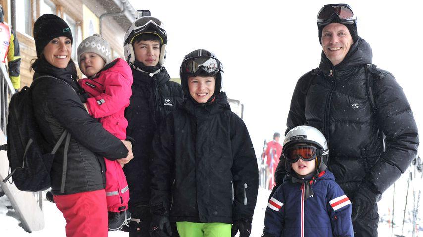 Prinzessin Marie und Prinz Joachim von Dänemark mit ihren Kindern