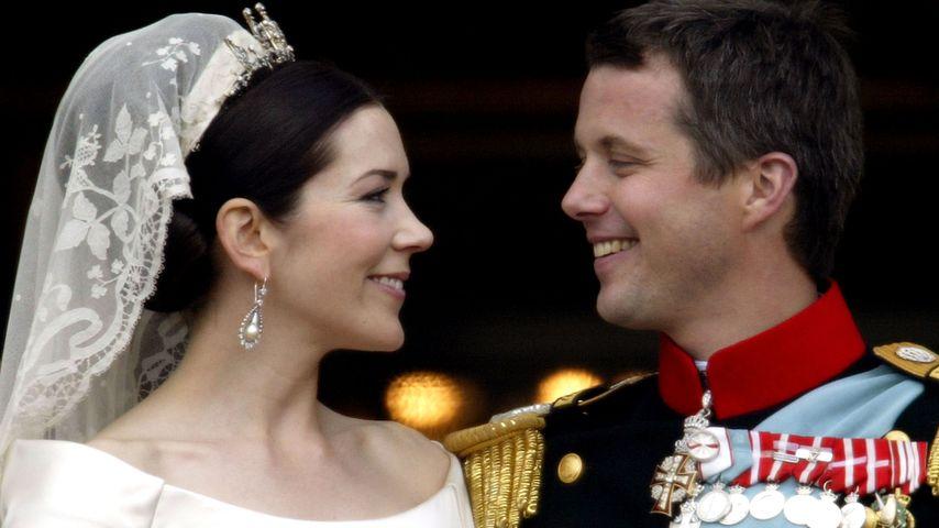 Prinzessin Mary und Prinz Frederik bei ihrer Hochzeit 2004