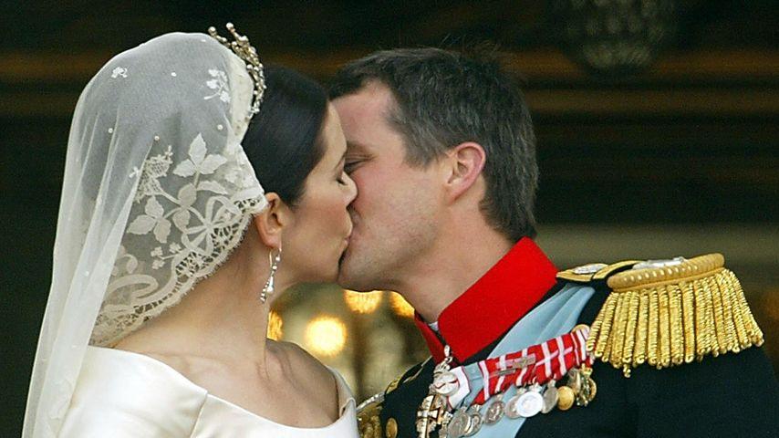 Prinzessin Mary und Prinz Frederik auf ihrer Hochzeit
