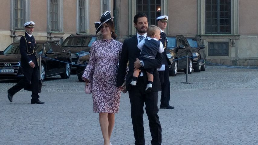 Prinzessin Sofia, Prinz Carl Philip und Prinz Alexander in Stockholm