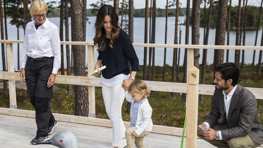 Prinzessin Sofia und Prinz Carl Philip mit ihrem Sohn Alexander im April 2018