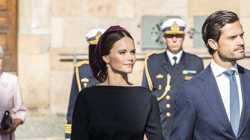 Prinzessin Sofia und Prinz Carl Philip von Schweden in Stockholm im September 2019