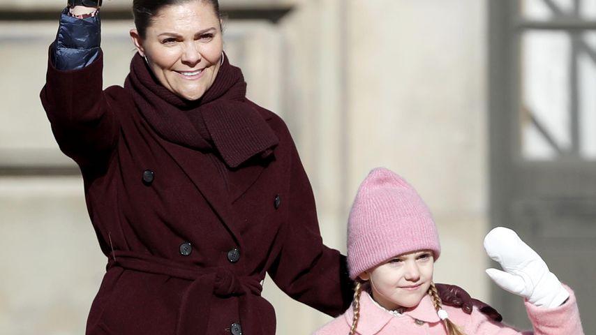 Prinzessin Victoria von Schweden und ihre Tochter Estelle, 2019 in Stockholm