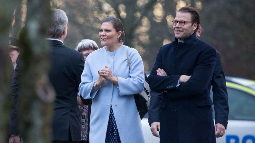 Prinzessin Victoria und Prinz Daniel von Schweden im November 2015 bei einem Besuch in Varmland