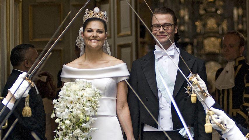 Prinzessin Victoria von Schweden und Prinz Daniel bei ihrer Hochzeit 2010