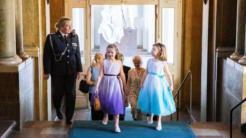 Prinzessin Victorias Gast Emilia und ihre Schwester Maja im Februar 2020