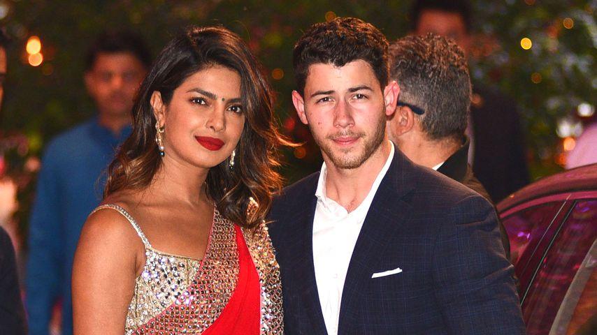 Priyanka Chopra und Nick Jonas bei einer Party in Mumbai, Indien