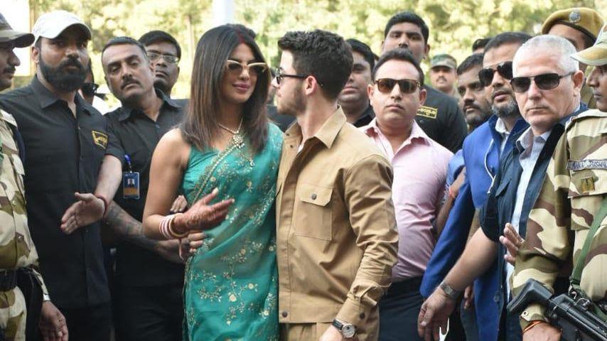 Bewaffnete Security bewachte Hochzeit von Priyanka & Nick