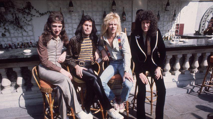 Queen 1976: John Deacon, Freddie Mercury, Roger Taylor und Brian May