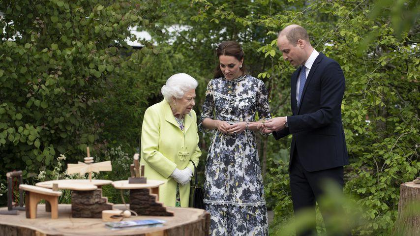 Queen Elizabeth II., Herzogin Kate und Prinz William