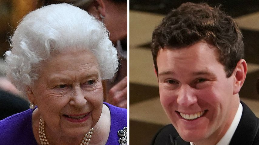 So schnell mochte die Queen Prinzessin Eugenies Mann Jack!