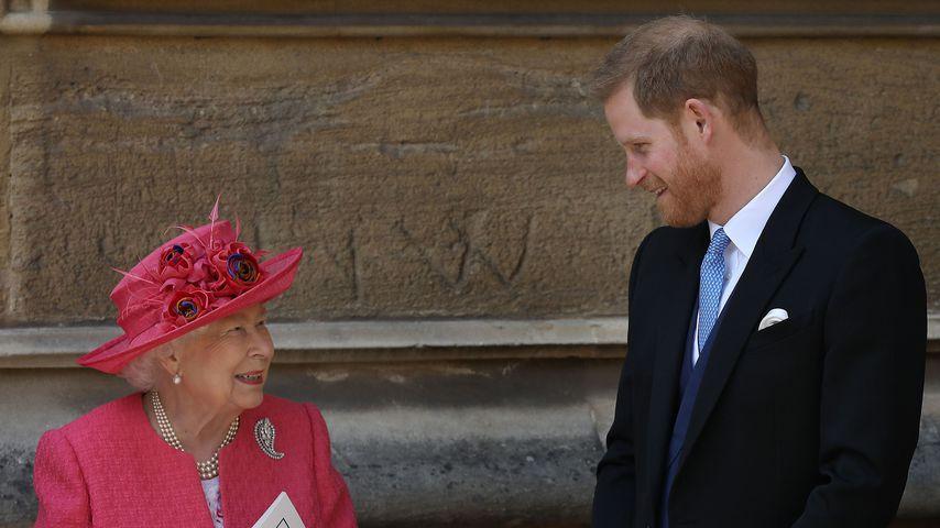 Bei der Windsor-Hochzeit: Schwärmt Harry hier von Archie?